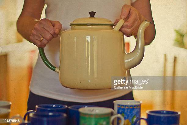 big teapot - catherine macbride stock-fotos und bilder