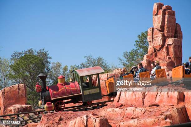 Big Thunder Mountain Railroad ride, Frontierland, Magic Kingdom, Disney World, Orlando, Florida, USA