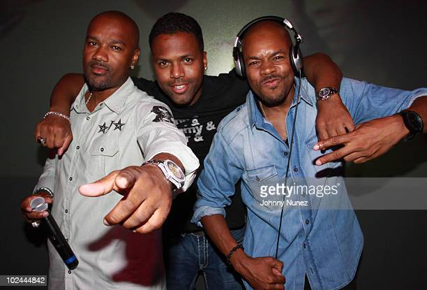 Big Tigger AJ Calloway and DJ DNice at The Highlands club in the Hollywood Highland Center on June 25 2010 in Hollywood California