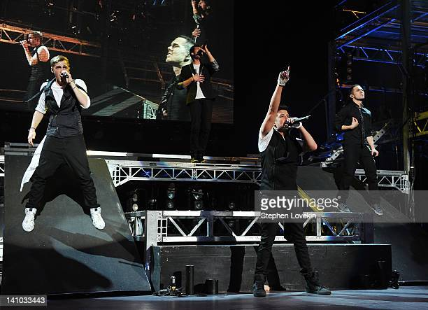 Big Time Rush perform at Radio City Music Hall on March 9 2012 in New York City