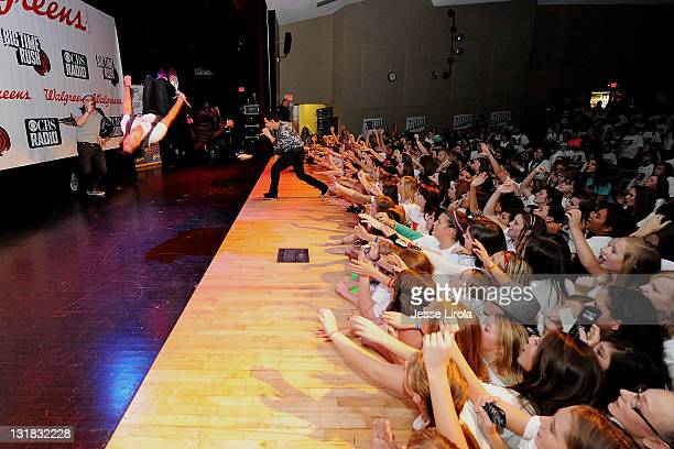 Big Time Rush performs at Sycamore High School on October 29 2010 in Sycamore Illinois