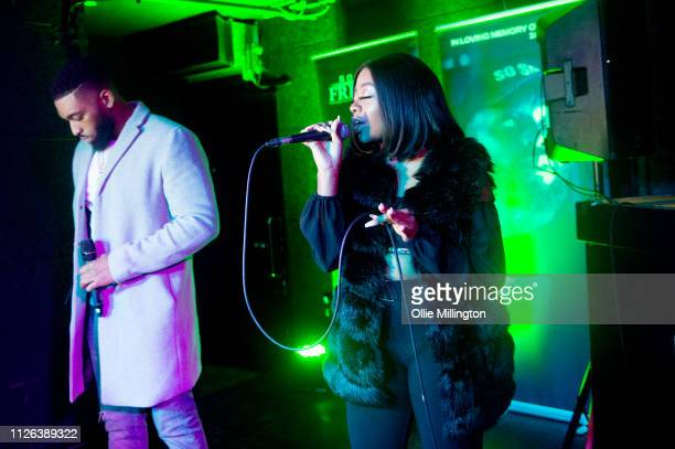 Big Tobz and Drey Cheekz perform during Grime Aid 2019 at The Ace Hotel on February 20 2019 in London England