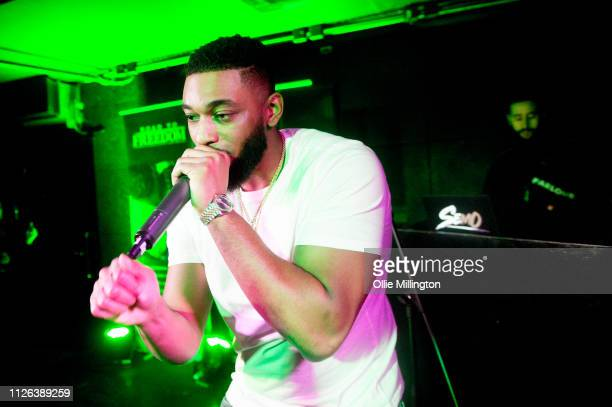 Big Tobz performs during Grime Aid 2019 at The Ace Hotel on February 20 2019 in London England