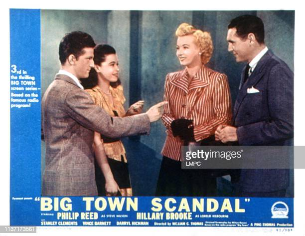 Big Town Scandal lobbycard Stanley Clemenets Donna Martell Hillary Brooke Phillip Reed 1948