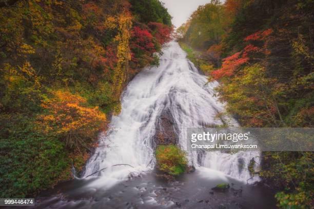 Big waterfall in fall