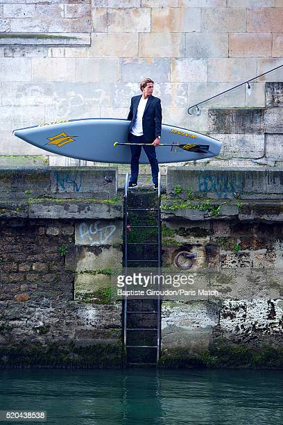 Big wave and standup paddle surfer Kai Lenny is photographed for Paris Match on March 30 2016 in Paris France