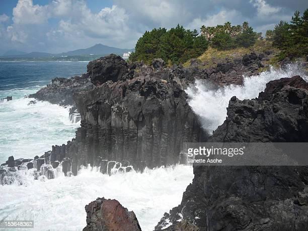 Big waves, Jeju Island