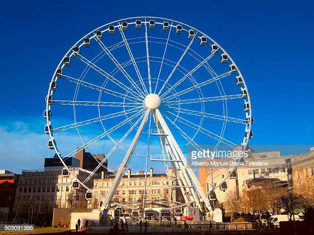 Big wheel placed in Picadilly Gardens square in Manchester.