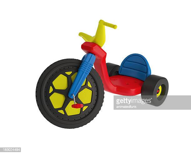 big wheel trike - tricycle stock pictures, royalty-free photos & images