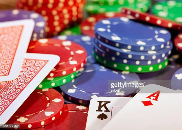Big ganar en juego de póquer