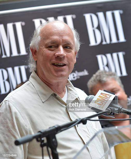 Big Yellow Dog Music's Kerry O'Neil addresses the crowd during the BMI ASCAP CMA Party For Drunk On You Performed By Luke Bryan CoWriters Rodney...