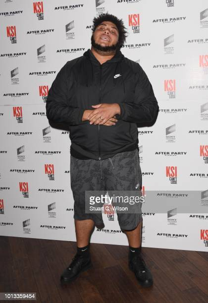 Big Zuu attends the World Premiere of 'KSI Can't Lose' documentary at Picturehouse Central on August 8 2018 in London England