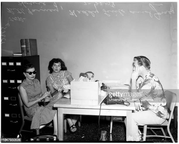 Bigamy, 22 July 1958. Ruth Farney -- 46 years ;Heddy Link ;James Howie -- 33 years ;John Di Betta .;Caption slip reads: 'Photographer: Wilson. ....
