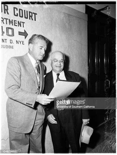 Bigamy, 29 October 1952. Attorney Bernard B Cohen;Francis H. Van Wie ..