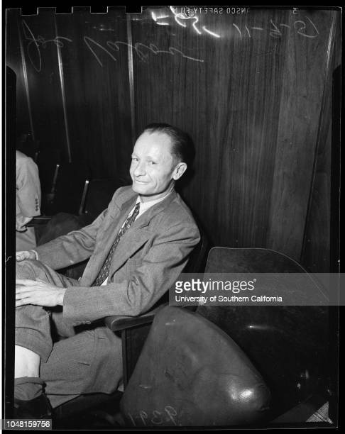 Bigamy, 9 November 1951. Mrs Ruth H. Valov, accused;Joe Sullivan, first husband;Joe Valov, second husband..