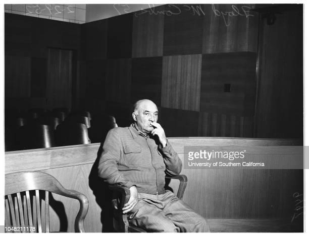 Bigamy and grand theft , 29 February 1952. Floyd McCombs -- 57 years . .Corona del Mar; Newport Beach; California; USA.