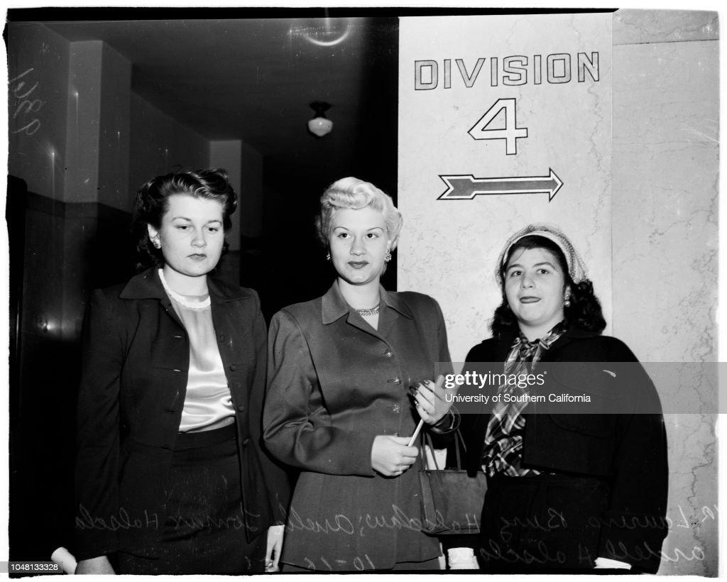 Bigamy case, 1951 : ニュース写真