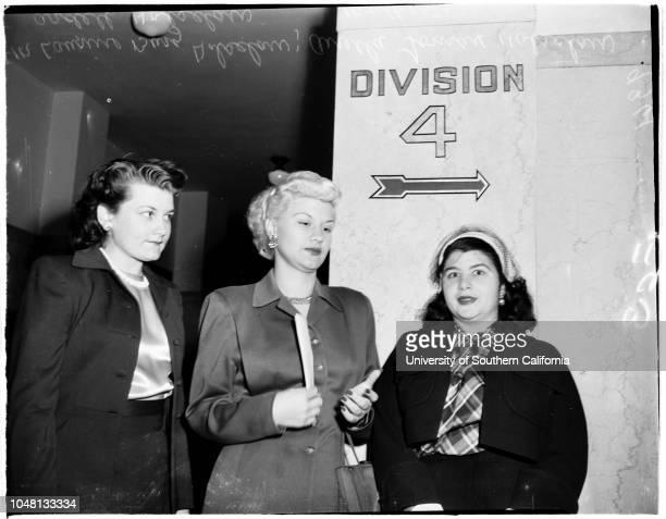 Bigamy case, 16 October 1951. Laurine Holsclaw;Gertrude Burg Holsclaw;Anella Lomax Holsclaw;Ardell Mills Holsclaw..