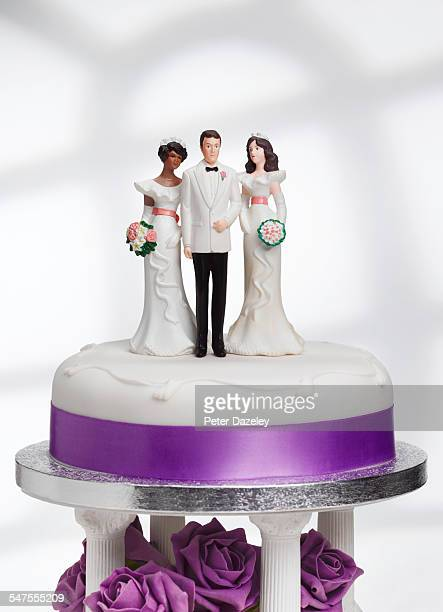 bigamy wedding cake - groom stock pictures, royalty-free photos & images