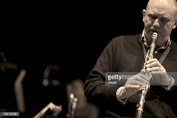 bigband: clarinet - classical musician stock pictures, royalty-free photos & images