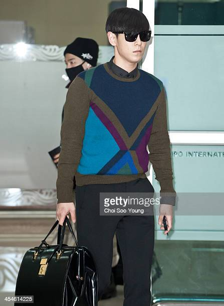 Bigbang is seen at Gimpo International Airport on December 2 2013 in Seoul South Korea