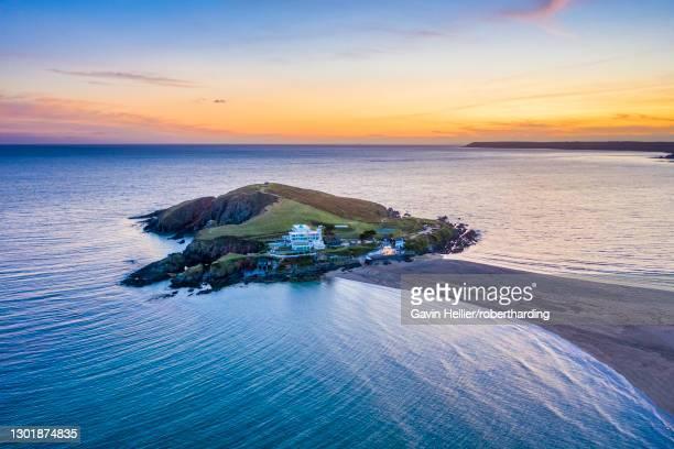 bigbury on sea, bigbury, devon, england, united kingdom, europe - gavin hellier stock pictures, royalty-free photos & images