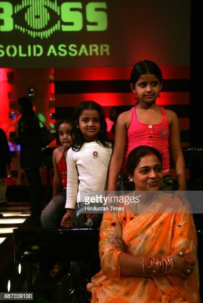 Bigg Boss Wife Priti and daughters of the Ravi Kissen the top star of Bhojpuri cinema on the sets of the show