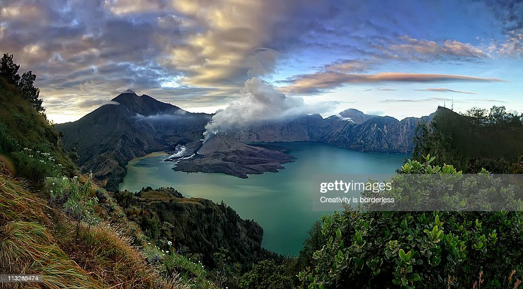 Bigger view of Mount Rinjani(Panorama) : Stock Photo