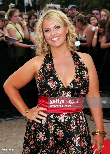 Biggest Loser contestant AJ Rochester arrives at the Australian Idol Grand Final 2006 at the Sydney Opera House on November 26 2006 in Sydney...