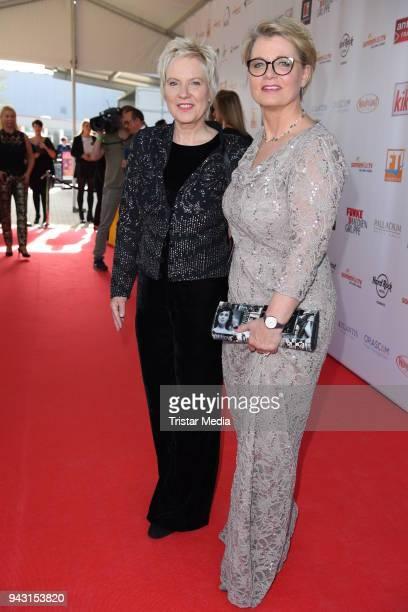 Biggi Birgit Lechtermann and Andrea Spatzek attend the 'Goldene Sonne 2018' Award by SonnenklarTV on April 7 2018 in Kalkar Germany