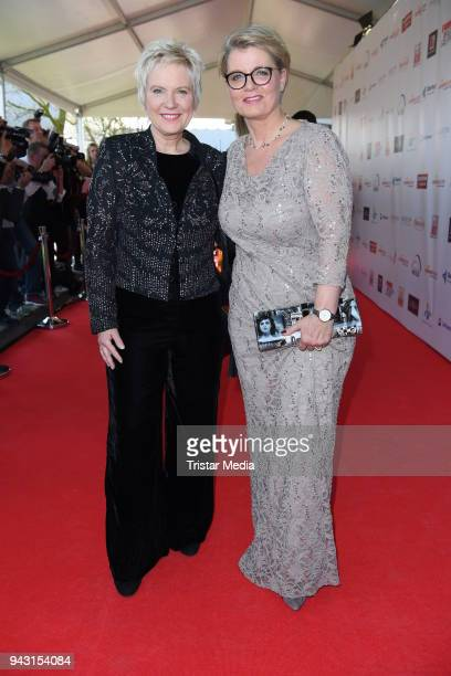 Biggi Birgit Lechtermann and Andrea Spatzek attend the 'Goldene Sonne 2018' Award by Sonnenklar.TV on April 7, 2018 in Kalkar, Germany.