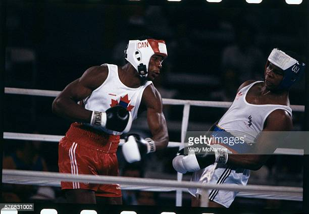 Biggs however recovered from the frozen moment in time to win the gold medal at the 1984 Games Canadian heavyweight boxer Lennon Lewis is on the...