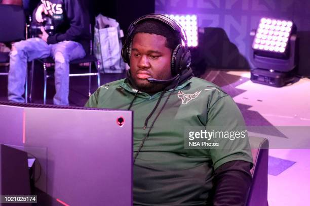 BigMeek of the Bucks Gaming plays the game against the on August 4 2018 at the NBA 2K Studio in Long Island City New York NOTE TO USER User expressly...