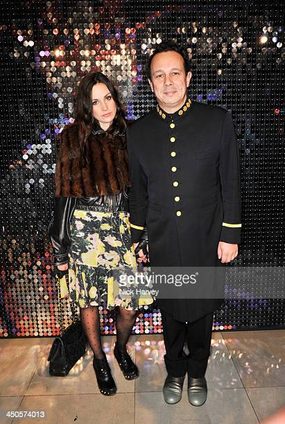 Bigna Pfenninger and Detmar Blow attend the private view of Isabella Blow: Fashion Galore! Party at Somerset House on November 19, 2013 in London,...