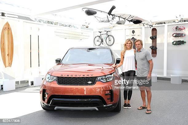 Bigwave surfer Laird Hamilton and champion volleyball player and fitness leader Gabby Reece with the allnew Land Rover Discovery SUV at the vehicle's...