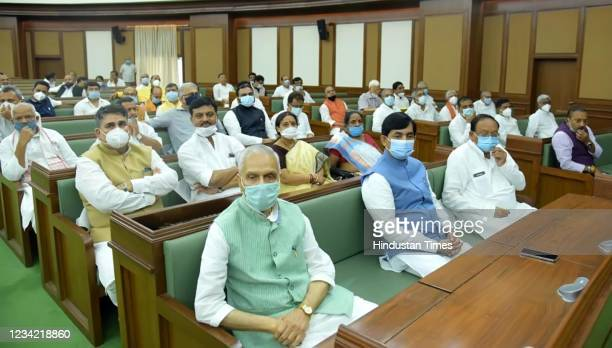 Bihar Chief Minister Nitish Kumar during a NDA legislators meeting on July 26, 2021 in Patna, India.