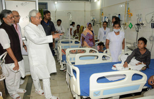 IND: Bihar Chief Minister Nitish Kumar Visits Muzaffarpur To Take Stock Of AES Outbreak, Faces Protests
