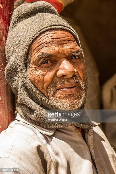 Bihari Worker who worked reconstructing a Buddhist monastery in Ladakh, India in June 2011