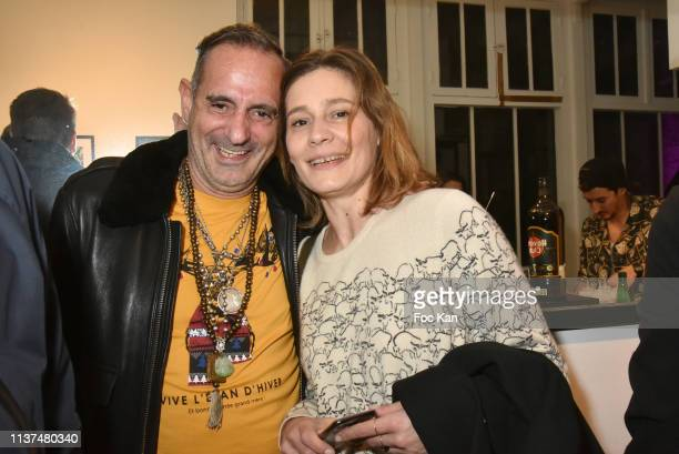 Biitchy Jose and actress Draghixa attend 'The French Touch from A to Z' Gilles Petipas Photo Exhibition Party at 14 Rue Vertbois Gallery on March 21,...