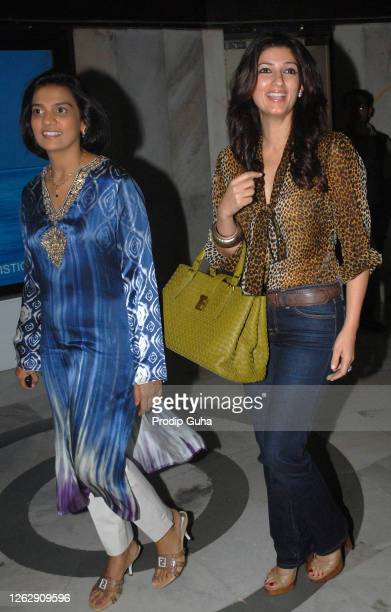 Bijal Meswani and Twinkle Khanna attend the charitable foundation Sahachari's Shopping Extravaganza at the World Trade Centre on September 01 2009 in...