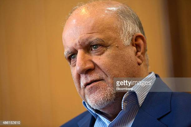 Bijan Namdar Zangeneh Iran's oil minister pauses during an interview at the oil ministry in Tehran Iran on Tuesday Sept 1 2015 Iran will produce 1...