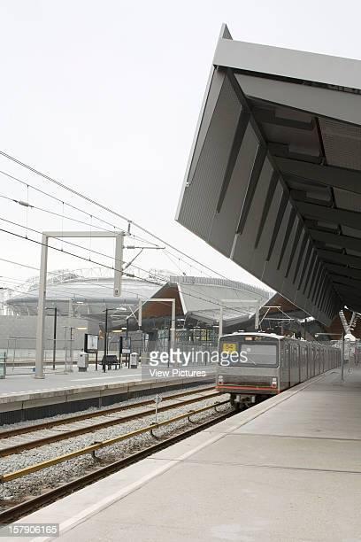 Bijlmer Arena Amsterdam Netherlands Architect Grimshaw Bijlmer Arena Detail Of Canopy With Ajax Stadium Behind