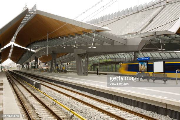 Bijlmer Arena Amsterdam Netherlands Architect Grimshaw Bijlmer Arena Looking Across The Tracks With Canopy Decending