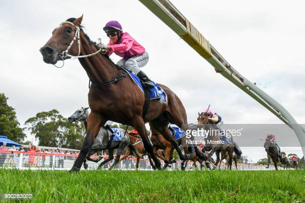 Bijou Belle ridden by Nikita Beriman wins the Danny O'Brien MP BM58 Handicap at Stony Creek Racecourse on April 10 2016 in Stony Creek Australia