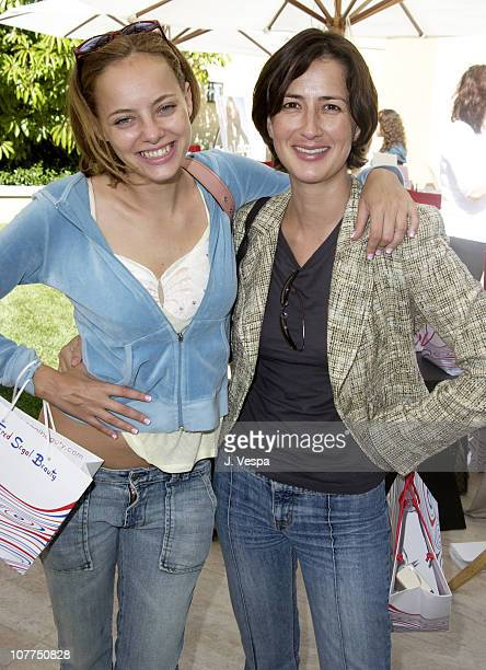 Bijou Phillips and Anna Getty during Charles David and W Magazine Luncheon to Benefit Miracles and Wonders Foundation for Breast Cancer at Private...