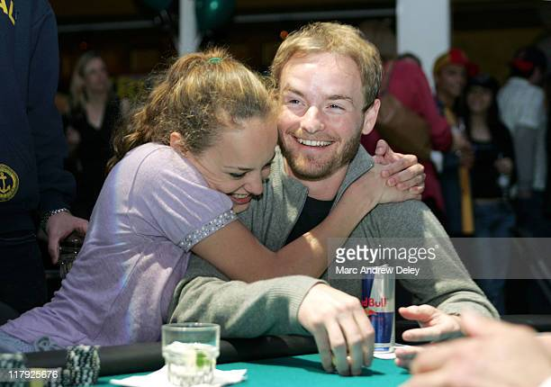 Bijou Phillips and Chris Masterson during Face Of An Angel Foundation Celebrity Poker Tournament April 9 2005 at The Big Easy in Boston Massachusetts...