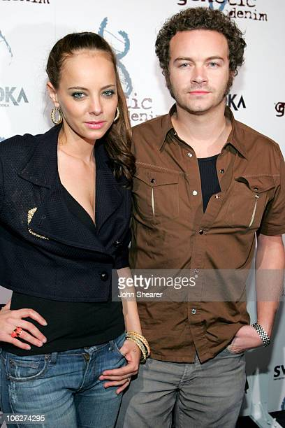 Bijou Phillips and Danny Masterson during Genetic Denim Launch Party Sponsored by Svedka - Arrivals at LAX in Los Angeles, California, United States.