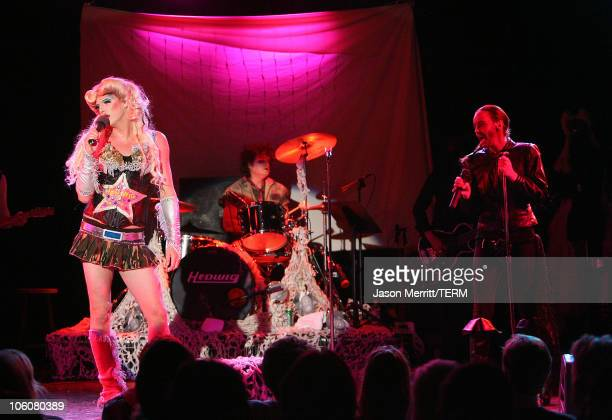Bijou Phillips and Donovan Leitch during Hedwig and The Angry Inch at The Roxy Theatre Arrivals and Show at The Roxy Theatre in Hollywood California...