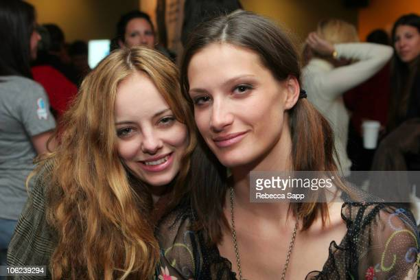 Bijou Phillips and guest during 2007 Park City Kari Feinstein Style Lounge Day 2 at Kari Feinstein Style Lounge in Park City Utah United States