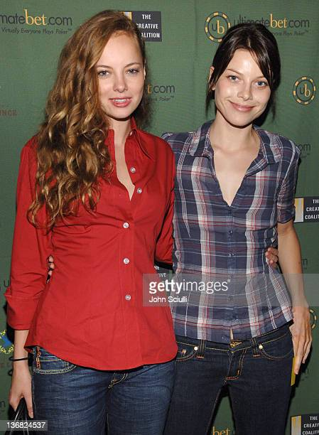 Bijou Phillips and Lauren German during Ultimatebetcom Kari Feinstein and Mike McGuiness Host Celebrity Poker Tournament to Honor Clifton Collins...
